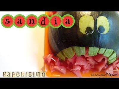 Decoración con fruta: Una sandía monstruo
