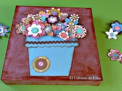 DIY, Cómo hacer un Cuadro Tarjeta Scrap. Ideas para Regalar, Ideas para el Día de la Madre
