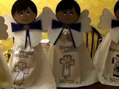 """""""FANTASTIDEAS""""  ***ANGEL CELESTIAL ***CENTROS DE MESA PARA BAUTIZO O 1ra. COMUNION."""