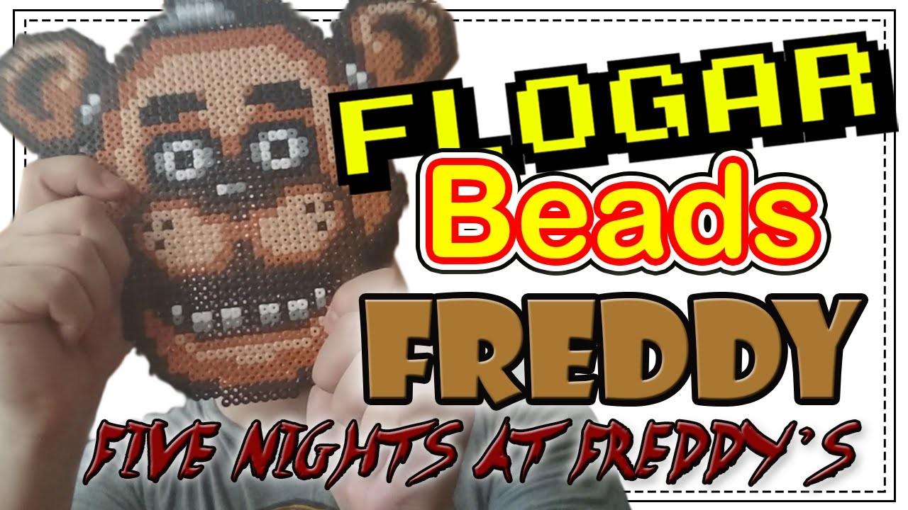 FREDDY (FNAF) - DIY- Tutorial Pearl.Hama Beads para Gamers - FloGar o.O