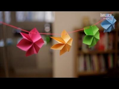 Guirnalda de flores en 3D   @iMujerHogar