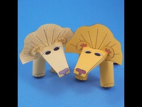 Hacer una marioneta, titere de dedo, león