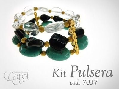 KIT 7037 Kit pulsera turqueza y ac x und