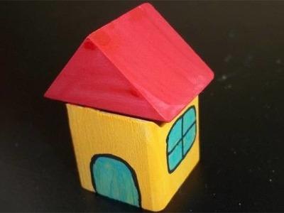 Manualidades de Madera: Casita con bloques de juguete