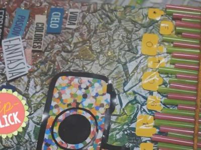Manualidades recicladas: Album de fotos reciclado con periódicos