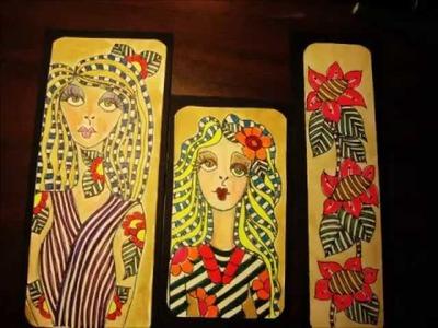 Munecas con zentangle y doodling