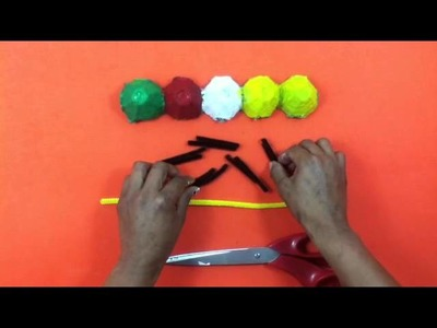 Oruga con cartón de huevo - Manualidades divertidas para niños