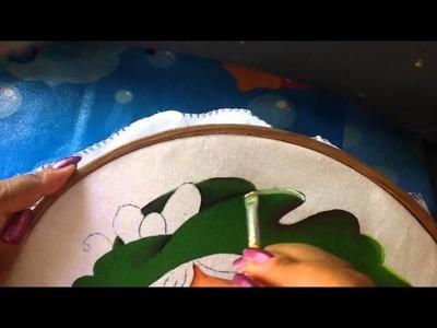 Pintura en tela niña uva # 2 con cony