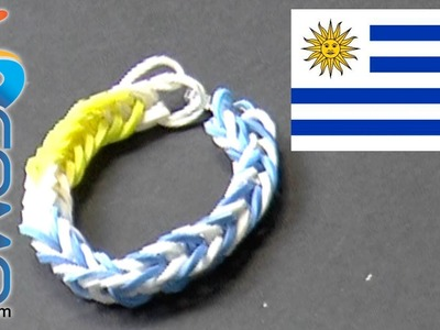 Pulsera de gomitas de Uruguay - Brazalete de ligas