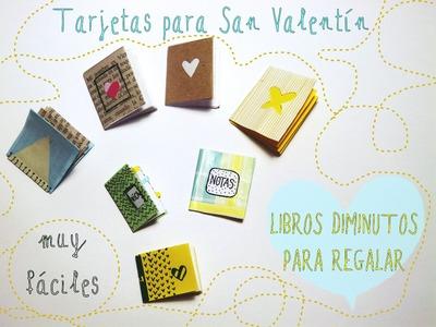 Tarjetas con forma de libro diminuto [Manualidades San Valentín 2015]
