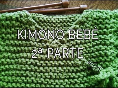 Teje una chaqueta baby kimono con dos agujas 2ª parte