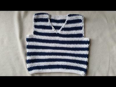 Tejer un chaleco de bebés - coser en crochet - parte 3.4 by BerlinCrochet