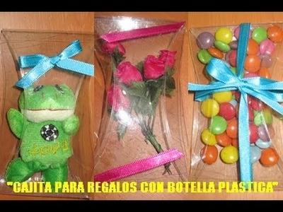 TUTORIAL: CAJITA PARA REGALOS DE BOTELLA PLASTICA