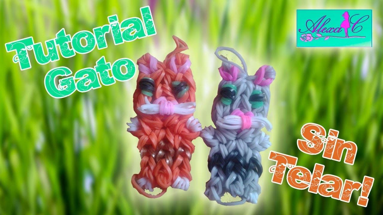 ♥ Tutorial: Gato de gomitas (sin telar) ♥