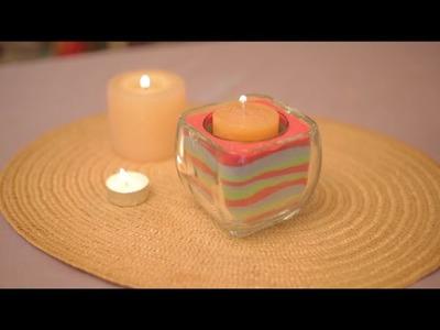 Velas de arena de colores | Cómo hacer velas | @iMujerHogar