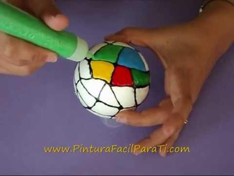 2 Esferas Navideñas *Christmas Balls* Adornos Navideños Videos de Navidad 2014 Pintura Facil