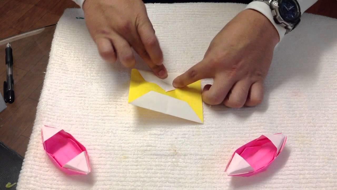 Barca de papel - Bote de origami