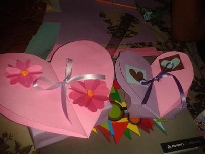 Caja con tapa en forma de corazón