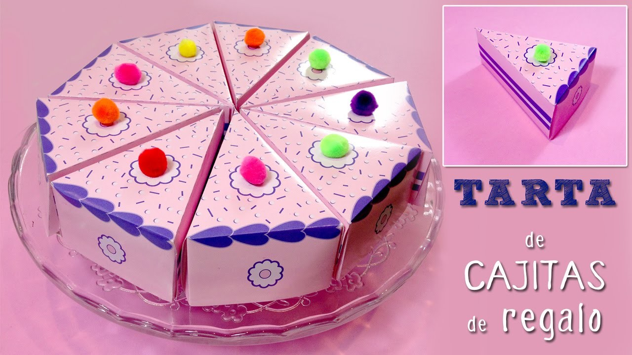 Cajitas en forma de pastel * Tarta falsa