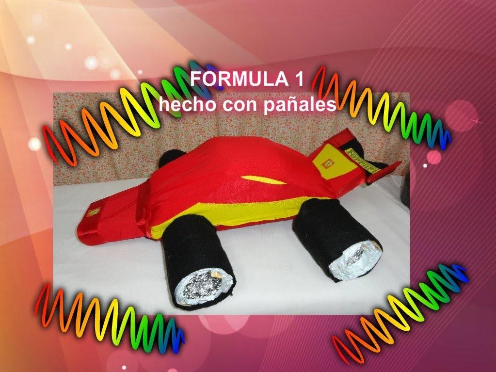 Coche diaper cake FORMULA 1