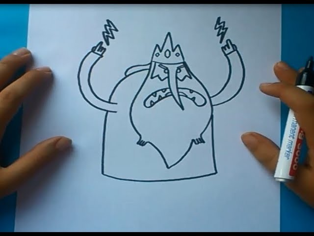 Como dibujar a Rey hielo paso a paso - Hora de aventuras | How to draw Ice King - Adventure time