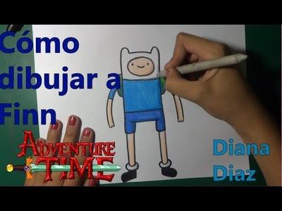 Cómo Dibujar: Finn (Hora De Aventura) | Diana Diaz