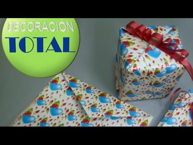 ¿ Cómo forrar un regalo ? y ¿ cómo hacer un sobre de regalo ?