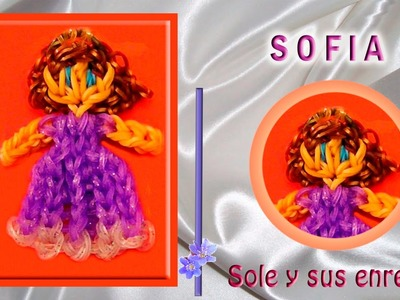Cómo hacer la Princesa Sofía con gomitas elásticas (serie princesas)