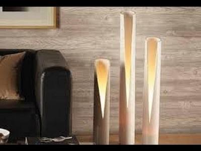 Como hacer LAMPARAS CON CAÑOS DE PVC 6