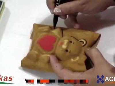 Como hacer Ositos y Angelitos 3D de Fomi con Moldes Termoformado, Goma EVA HD Flores