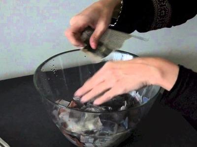 Como hacer pasta de papel maché