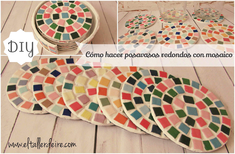 Cómo hacer posavasos redondos con mosaico