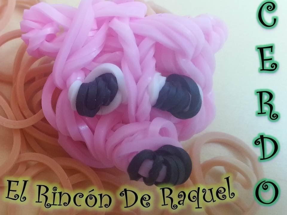Como hacer un cerdo con gomitas rainbow loom