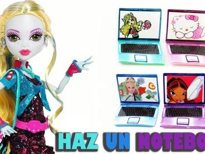 Cómo hacer un laptop o notebook para tus muñecas - Manualidades para muñecas