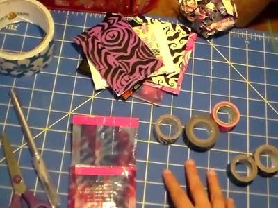 Cómo Hacer Un Monedero De Cinta Adhesiva Decorativa
