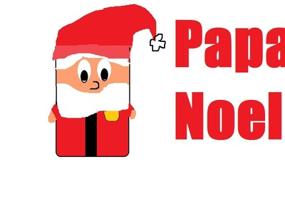 Como hacer un papa noel con tubo de papel higiénico. Video 16