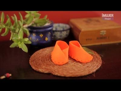 Cómo hacer zapatos de fieltro para bebés