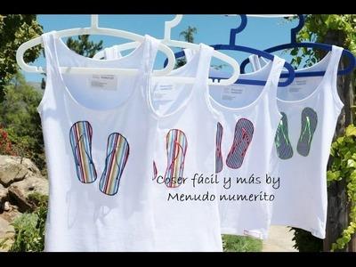Cómo personalizar camisetas: camisetas chancleteras