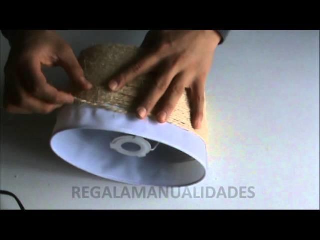 Cómo restaurar una lámpara de mesa con cuerdas (How to restore a table lamp with string)