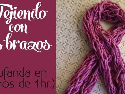 Cómo tejer: Con los brazos