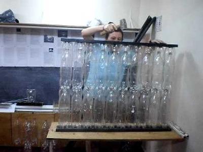 Construcción sustentable con botellas de plástico. Mar de las Pampas. Parte V