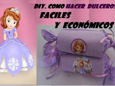 DIY,COMO HACER DULCERO DE LA PRINCESITA SOFIA MUY FACIL
