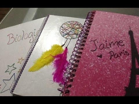 DIY decora tus cuadernos para el colegio