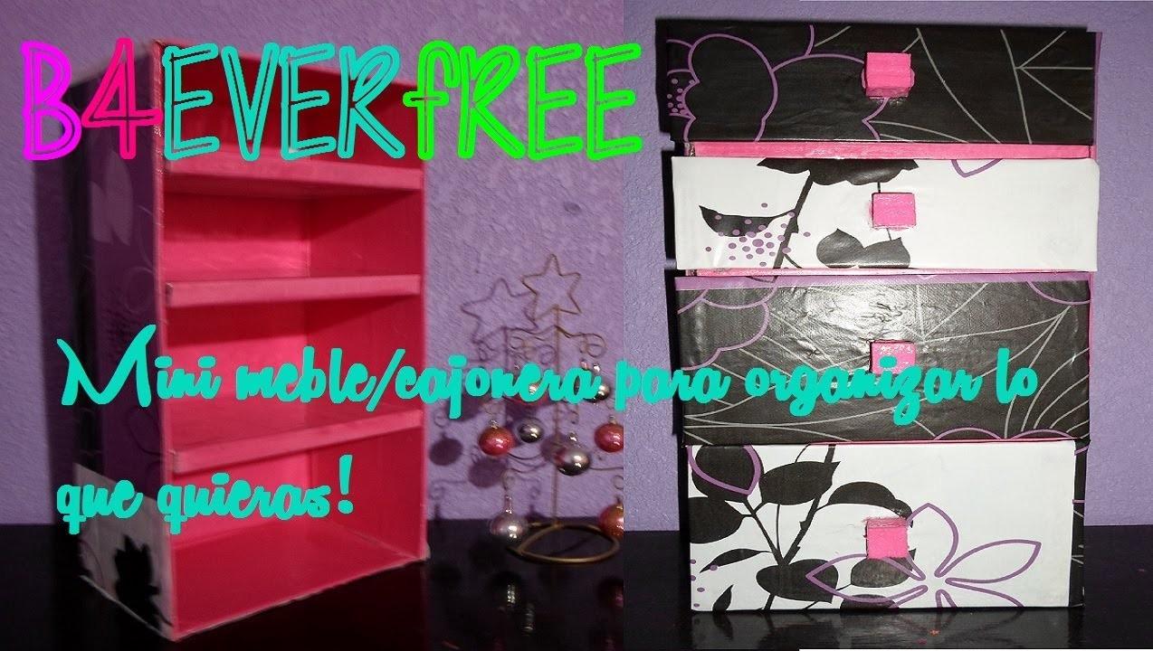DIY Haz un mini mueble para organizar lo que quieras!