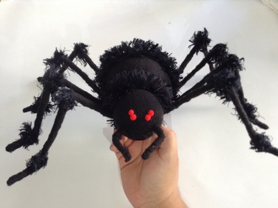 DIY Haz una Araña espeluznante para este Halloween