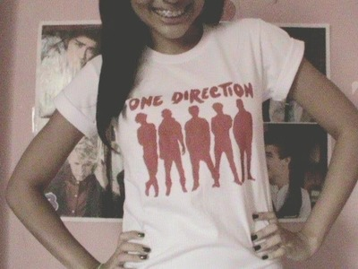 DIY One Direction T-shirt.Camisa