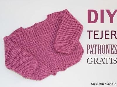 DIY Patrones de jersey de lana para primera puesta (gratis)