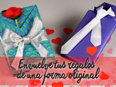 Envolver regalos de San Valentín