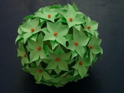 Esfera con flores de papel - Manualidades ♥