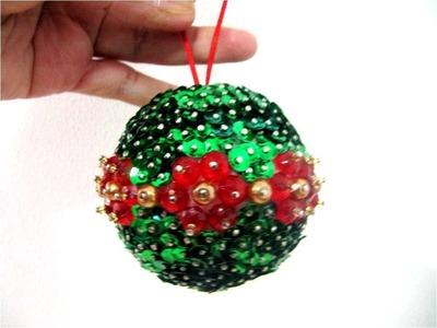 Esferas navideñas flores piedras  de cristal y lentejuelas